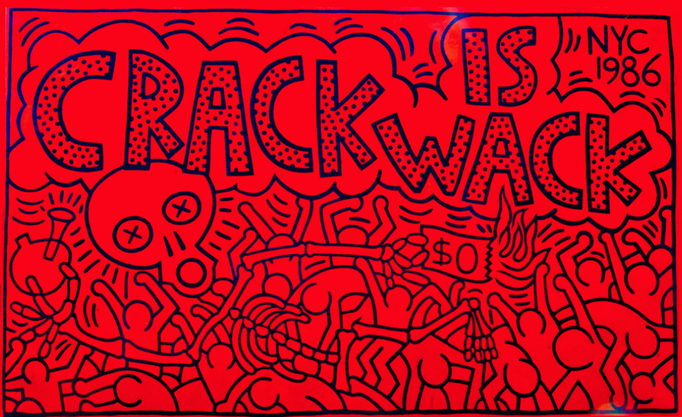 Keith allen haring art searching for the motherlode for Crack is wack keith haring mural