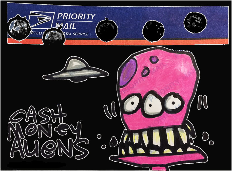 Cash Money Aliens by Joey Mars - 12062016